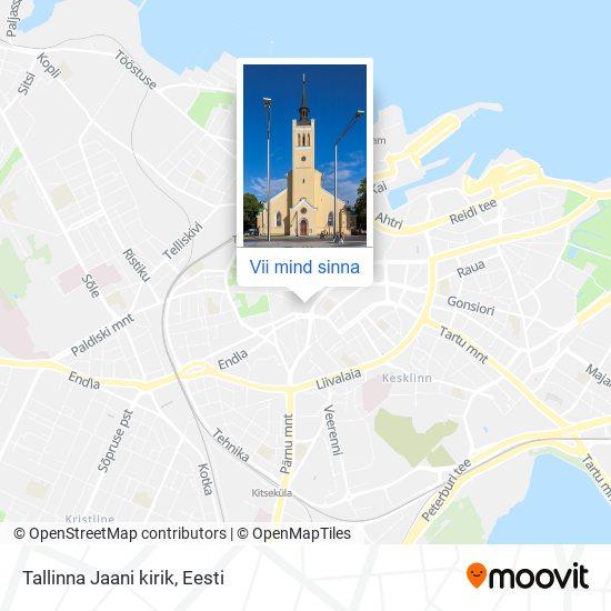 Tallinna Jaani kirik kaart