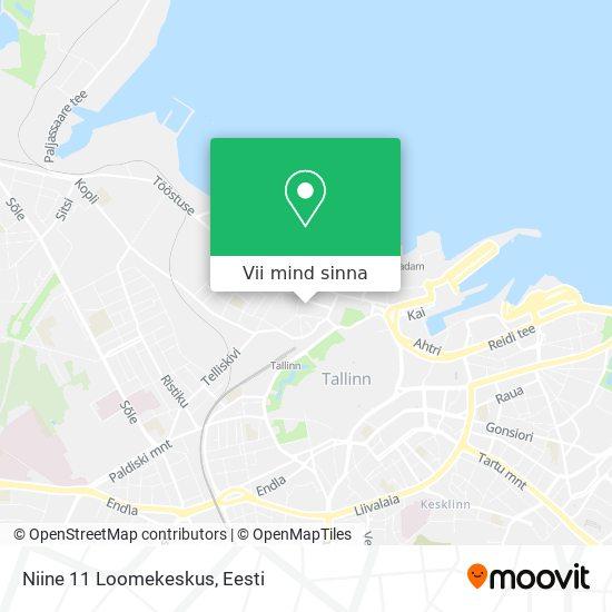 Niine 11 Loomekeskus kaart
