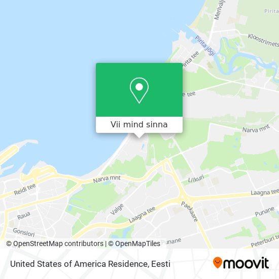 United States of America Residence kaart