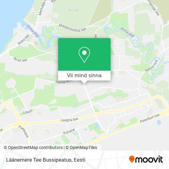 Läänemere Tee Bussipeatus kaart