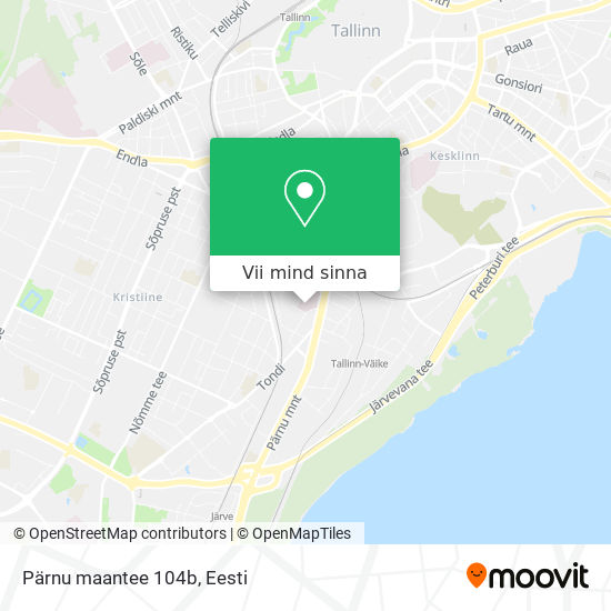 Pärnu maantee 104b kaart
