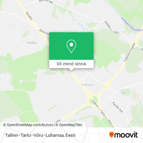 Tallinn–Tartu–Võru–Luhamaa kaart