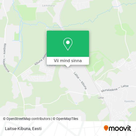 Laitse-Kibuna kaart