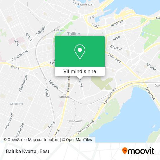 Baltika Kvartal kaart