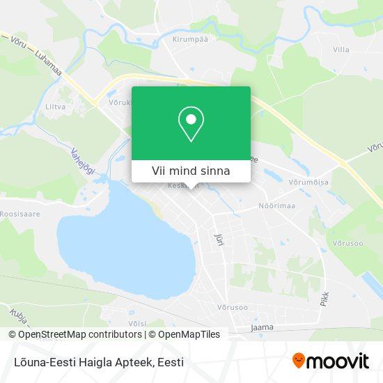 Lõuna-Eesti Haigla Apteek kaart