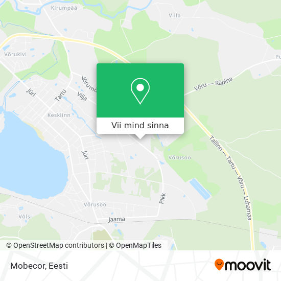 Mobecor kaart