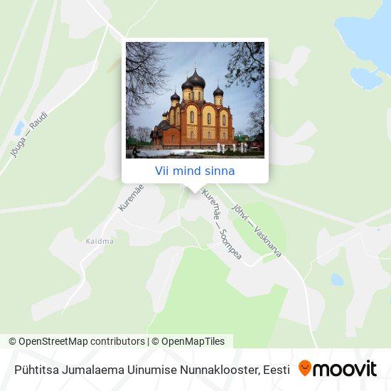 Pühtitsa Jumalaema Uinumise Nunnaklooster kaart