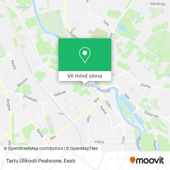 Tartu Ülikooli Peahoone kaart