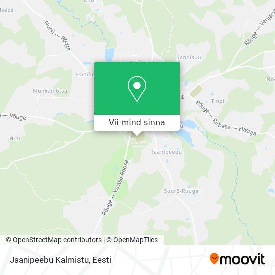Jaanipeebu Kalmistu kaart