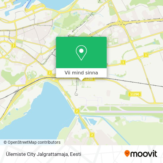 Ülemiste City Jalgrattamaja kaart