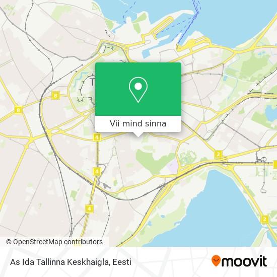As Ida Tallinna Keskhaigla kaart