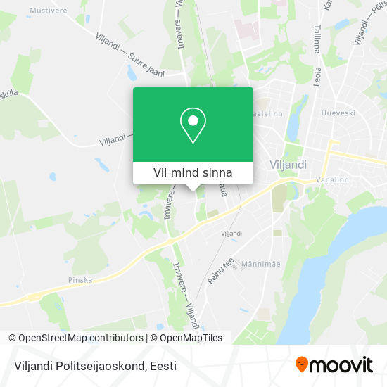 Viljandi Politseijaoskond kaart