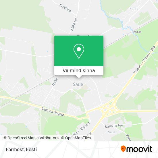 Farmest kaart