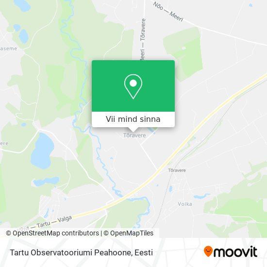Tartu Observatooriumi Peahoone kaart