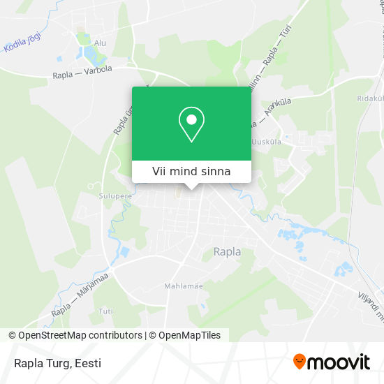 Rapla Turg kaart
