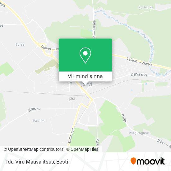 Ida-Viru Maavalitsus kaart