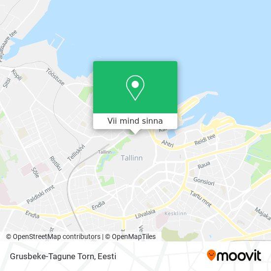 Grusbeke-Tagune Torn kaart