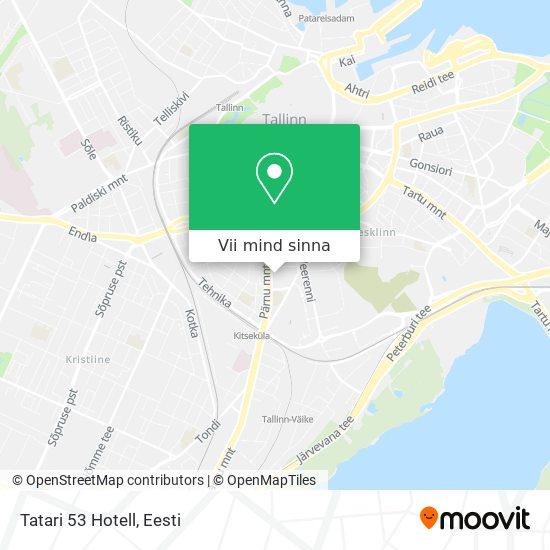 Tatari 53 Hotell kaart
