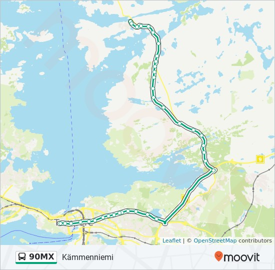 90mx Route Time Schedules Stops Maps Kammenniemi
