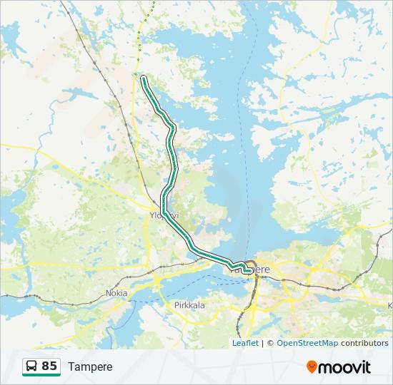85 Reitti Aikataulut Pysakit Kartat Tampere