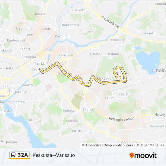 32a Route Time Schedules Stops Maps Keskusta Varissuo