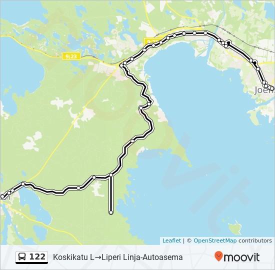 122 Route: Time Schedules, Stops & Maps - Koskikatu L