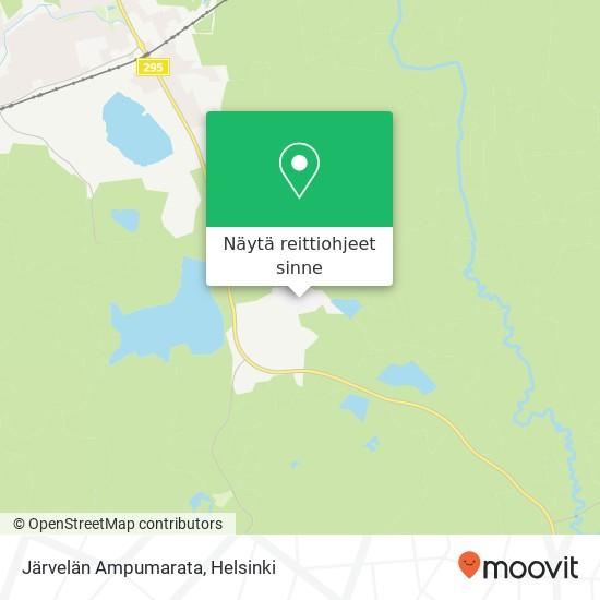 Järvelän Ampumarata kartta