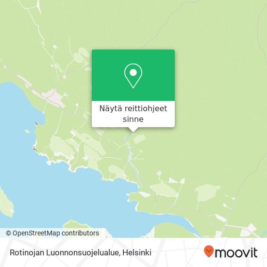 Rotinojan Luonnonsuojelualue kartta