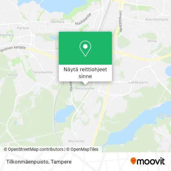 Tilkonmäenpuisto kartta