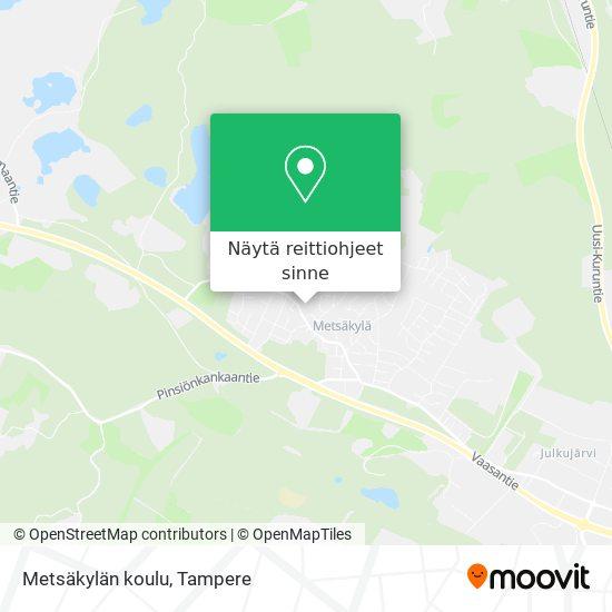 Metsäkylän koulu kartta