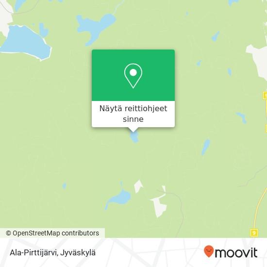 Ala-Pirttijärvi kartta