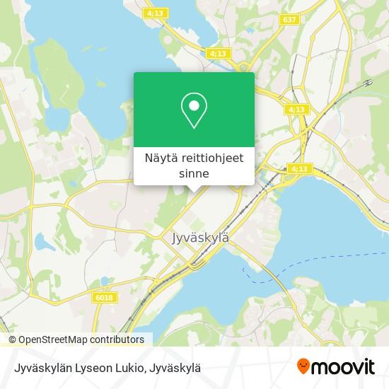 Jyväskylän Lyseon Lukio kartta