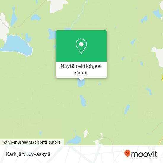 Karhijärvi kartta