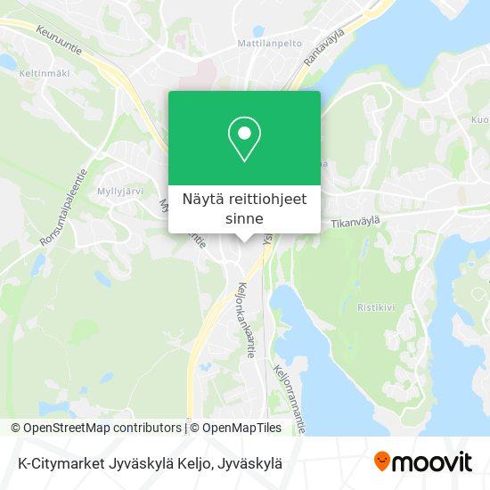 K-Citymarket Jyväskylä Keljo kartta