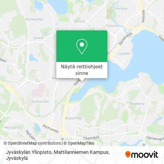 Jyväskylän Yliopisto, Mattilanniemen Kampus kartta