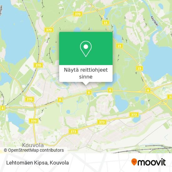 Lehtomäen Kipsa kartta