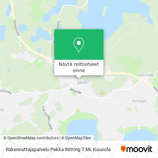 Rakennuttajapalvelu Pekka Witting T:Mi kartta