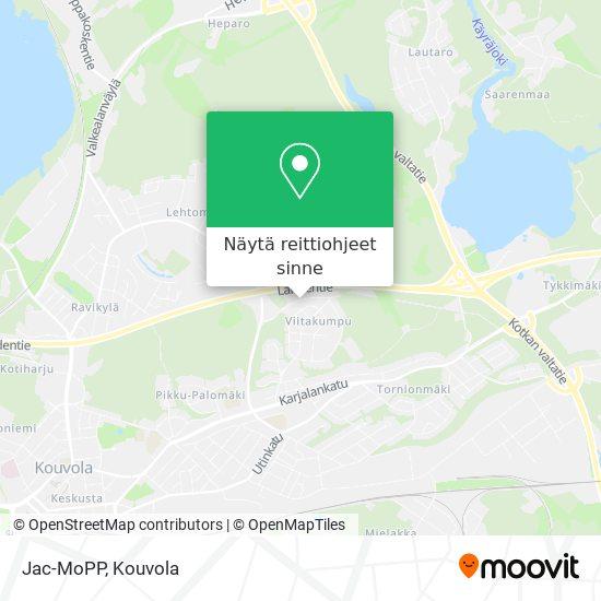 Jac-MoPP kartta