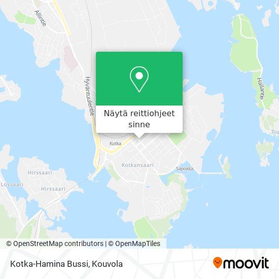 Kotka-Hamina Bussi kartta