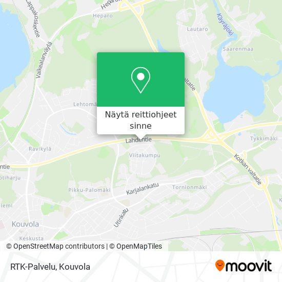 RTK-Palvelu kartta