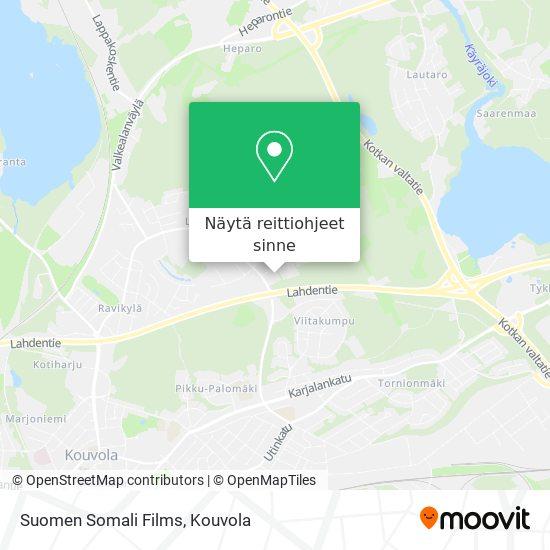 Suomen Somali Films kartta