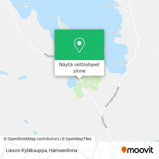 Lieson Kyläkauppa kartta