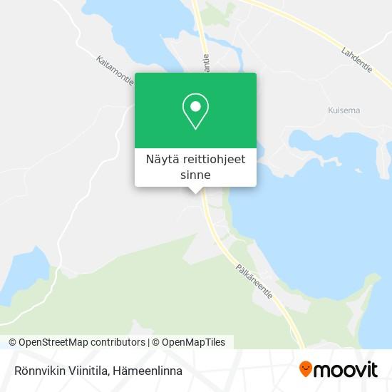 Rönnvikin Viinitila kartta