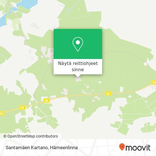 Santamäen Kartano kartta