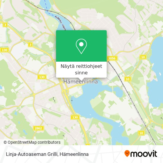 Linja-Autoaseman Grilli kartta