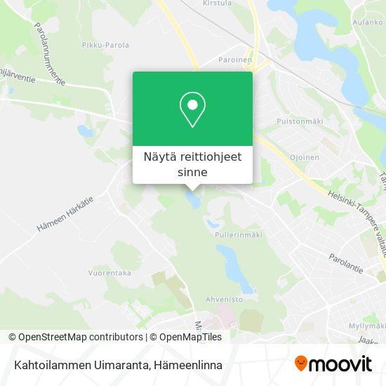 Kahtoilammen Uimaranta kartta