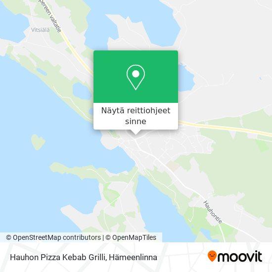 Hauhon Pizza Kebab Grilli kartta