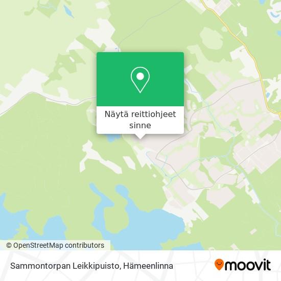 Sammontorpan Leikkipuisto kartta