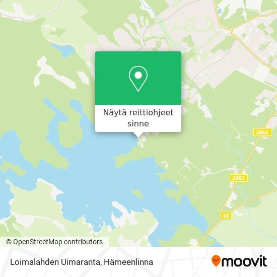 Loimalahden Uimaranta kartta