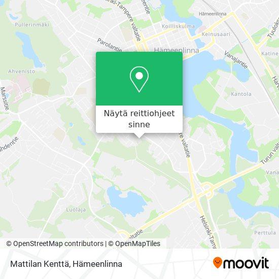 Mattilan Kenttä kartta